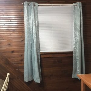 "Sun Zero Light Blue 63"" Curtains"